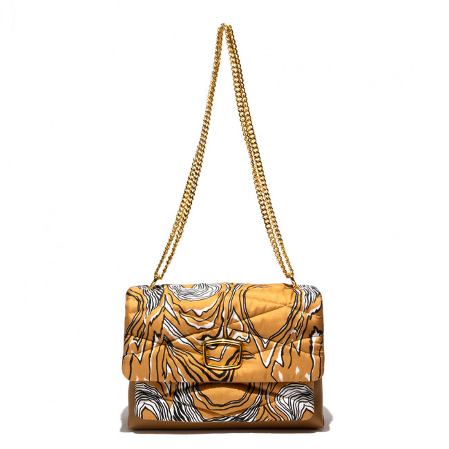 BAG silk fabric and leather matelassé upcycling gold details shoulder bag multi pockets evening unique mm33 milano mm33 bag mm33 italy mm33 bags mm33 abgs mm33 borse mm33obrse mm33borse mm33italy mm33 italy mm33 italia lucycling upcycling vintage s