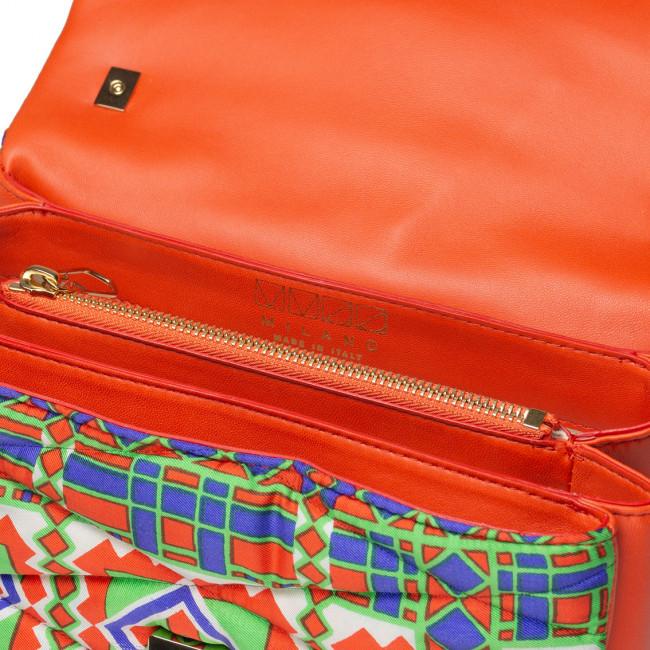 mm33 milano mm33 bag mm33 bags mm33 borsa mm33borsa mm33 borse mm33borse mm33italy mm33 italy mm33 italia lucycling upcycling vintage scarf  BAG silk fabric and leather matelassé upcycling gold details shoulder bag multi pockets evening unique